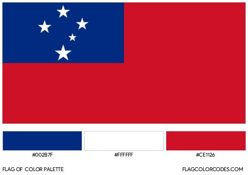 Samoa Flag Color Palette