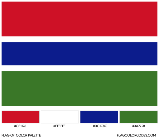 Gambia Flag Color Palette