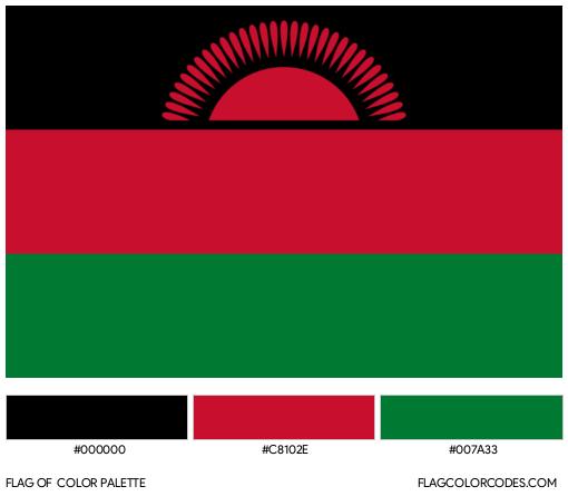 Malawi Flag Color Palette