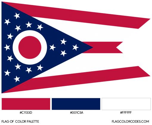 Ohio Flag Color Palette
