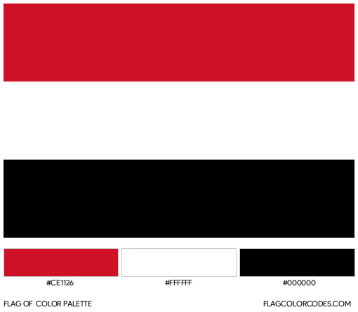 Yemen Flag Color Palette