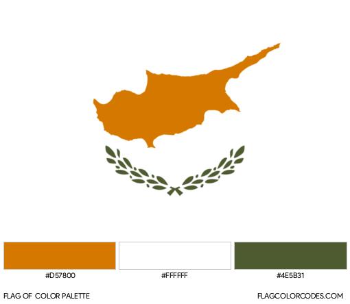 Cyprus Flag Color Palette