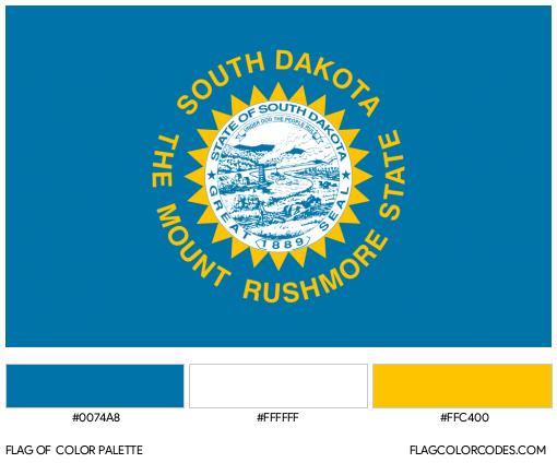 South Dakota Flag Color Palette