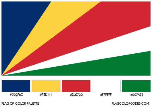 Seychelles Flag Color Palette