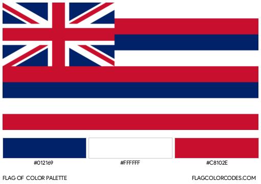 Hawaii Flag Color Palette