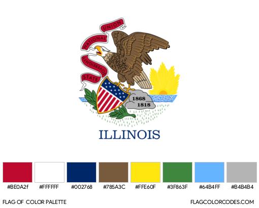 Illinois Flag Color Palette