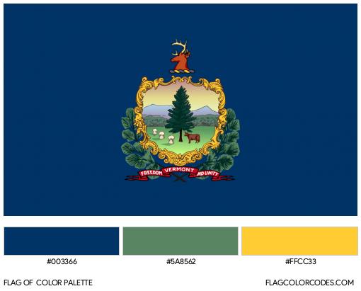 Vermont Flag Color Palette