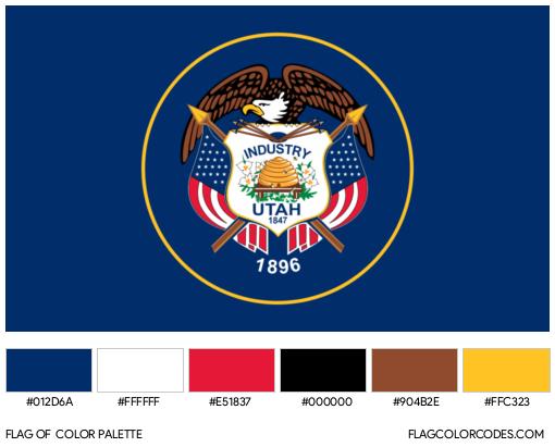 Utah Flag Color Palette