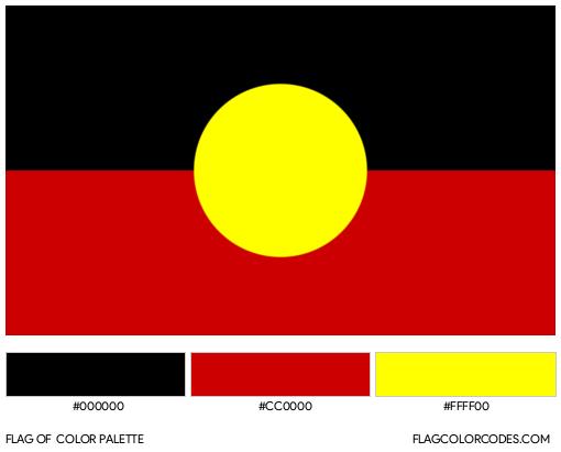 Australian-Aboriginal Flag Color Palette