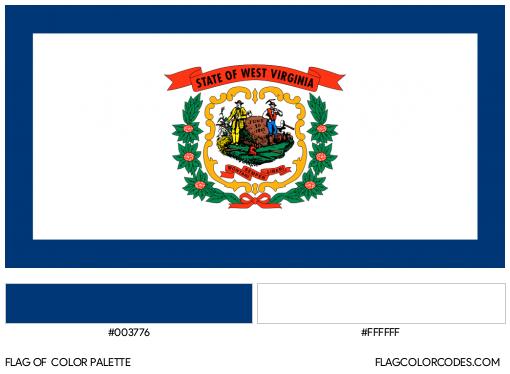 West Virginia Flag Color Palette