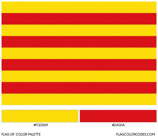 Catalonia Flag Color Palette