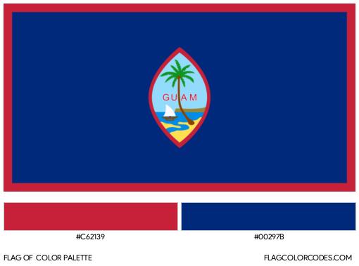 Guam Flag Color Palette