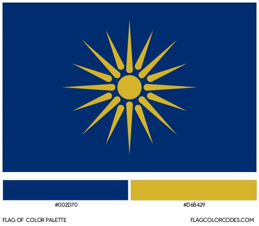 Macedonia (Greece) Flag Color Palette
