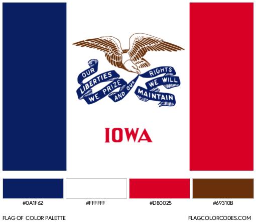 Iowa Flag Color Palette