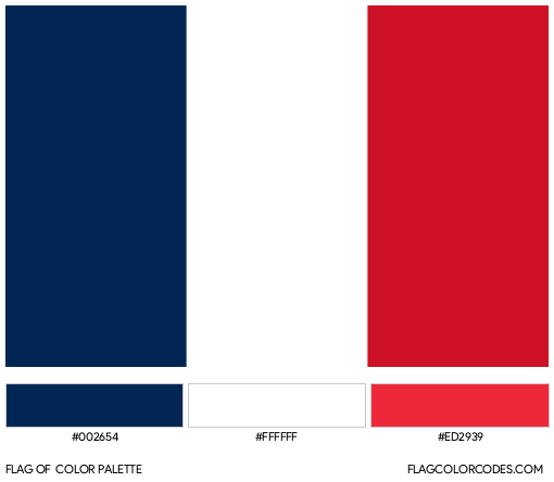 France Flag Color Palette